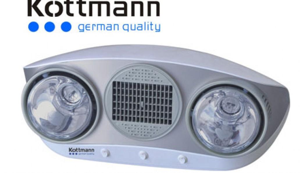 Đèn sưởi nhà tắm kottman thổi gió nóng-dòng bạc (K2B-HW-S)
