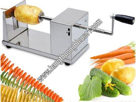 Máy thái lát khoai tây lốc xoáy