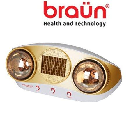 Đèn sưởi nhà tắm Braun thổi gió nóng BU16