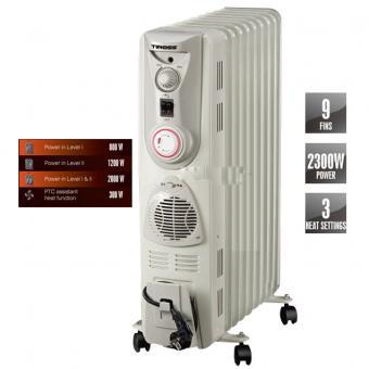 Máy sưởi ấm Tiross TS925 (9 thanh nhiệt, 2000W)