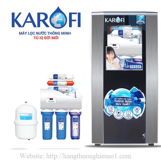 Máy lọc nước thông minh Karofi 8 lõi lọc iRO 1.1 tủ IQ (K8I-1)